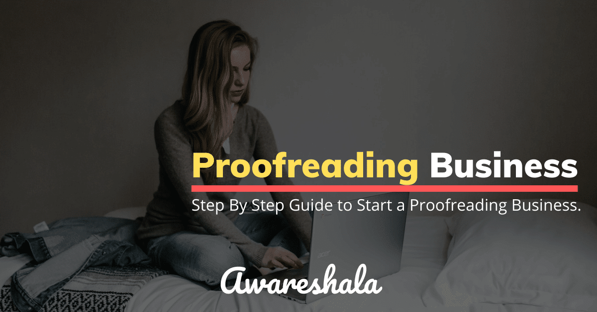 start a freelance proofreading business